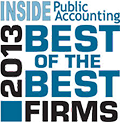 Richey May was recognized as a 2013 Best of the Best Firm by INSIDE Public Accounting.