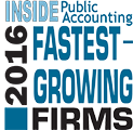 Richey May was recognized as a 2016 Fastest-Growing Firm by INSIDE Public Accounting.
