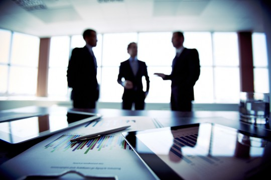 Group of businessmen in a meeting