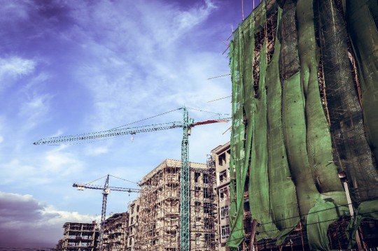 Tall buildings being built