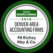Award 2018 Denver area accounting firms