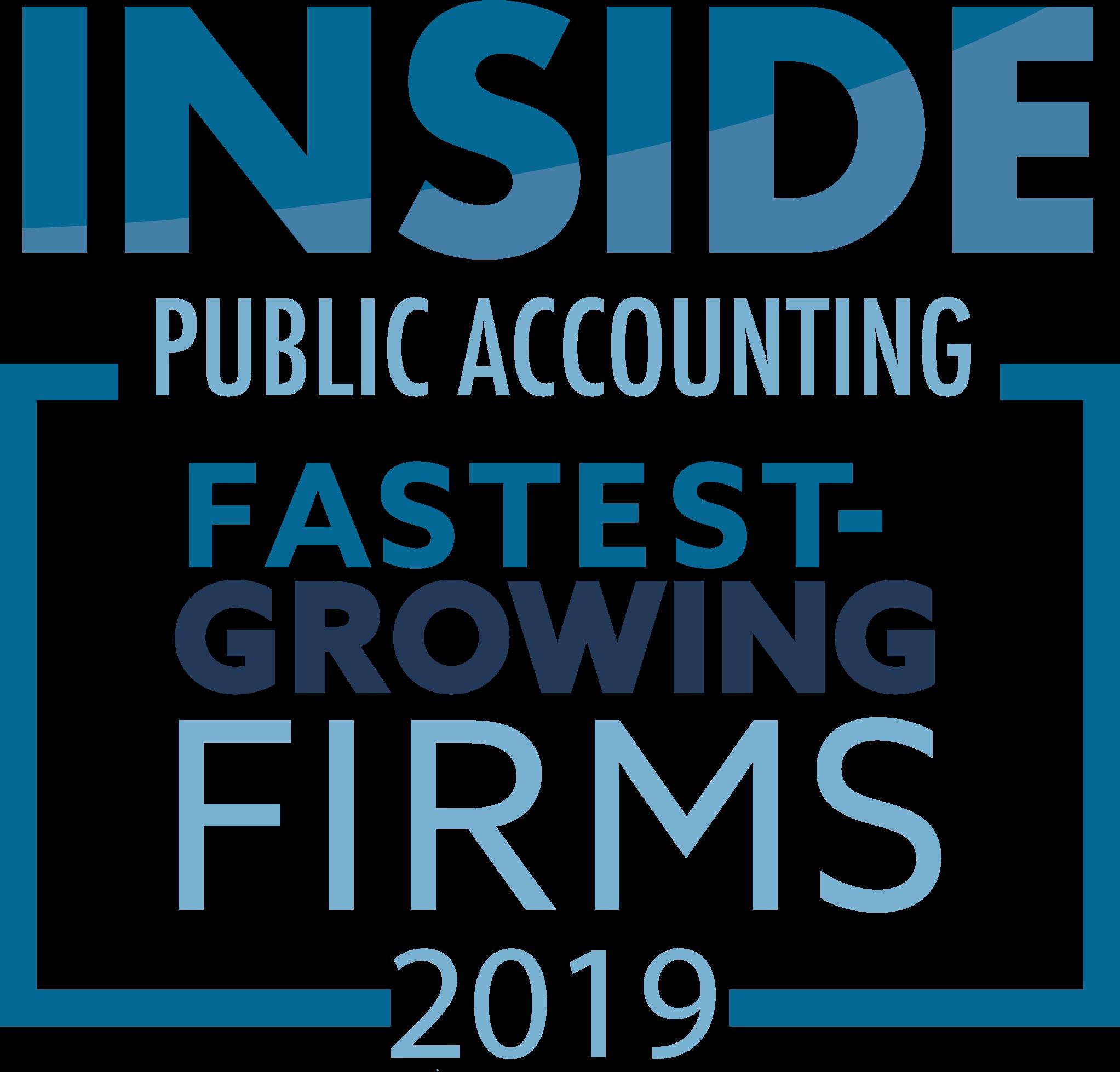 Award- 2019 Fastest Growing Firms
